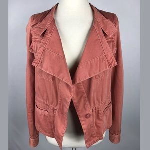 Hei hei Anthropologie utility jacket burnt orange